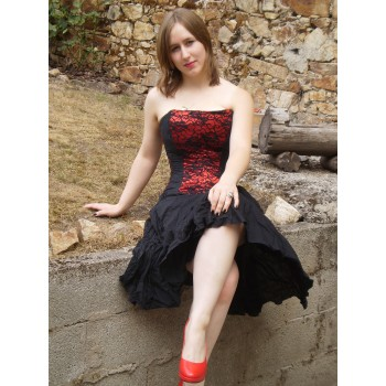 """Corset """"Black and red"""""""
